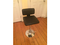John Lewis leather bar stool, RRP £94.99, as new.