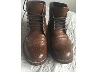 Mens Brown Leather boots -Kurt Geiger size 9