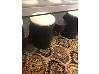 Coffee table with 4 mini chairs