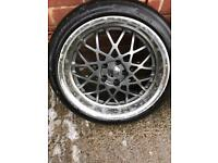 BBS reps deep dish 18inch Alloys