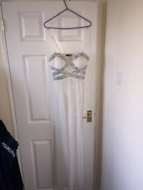 Quiz White Prom Dress UK 10