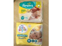 Pampers and little Angels nappies