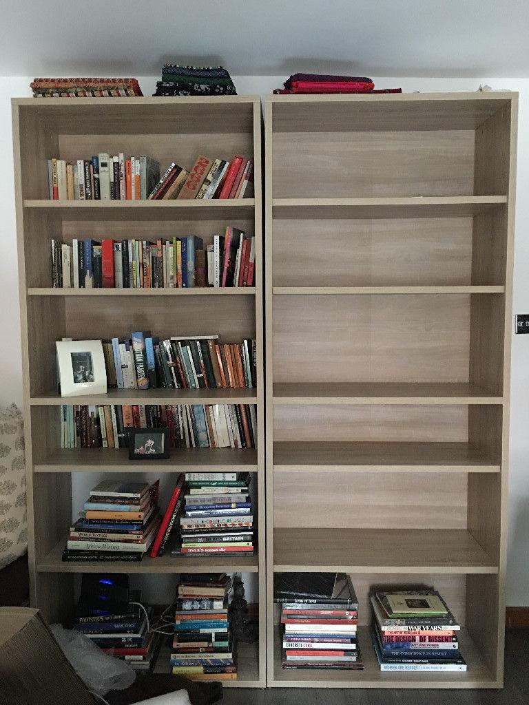Three John Lewis Partners Estelle Tall Bookcases One