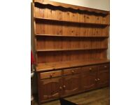 large solid pine welsh dresser great for shop display cafe/shabby chic