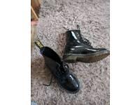 Ladies Patent airwair boots