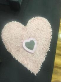 Next heart rug and matching mirror