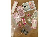 Various cell phone jewellery sticker sheets - decal/decor/ gems/rhinestones/ DIY