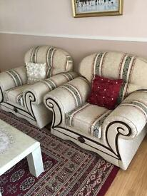 3 seater sofa and 2 singles ones