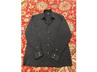 Jaeger Men's Smart Black Shirt Collar 16""