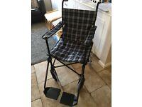 Unused Travel Wheelchair - Viva Medi Traveel Chair (Tartan)