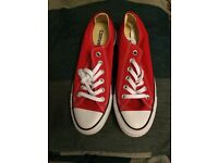 Red converse trainers size 5