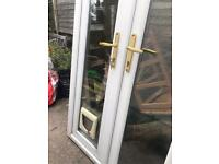 Sorry now sold French patio doors with cat flap