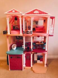 Barbie's Dream House - Plastic Dolls House with Accessories