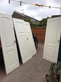 3 large fire doors
