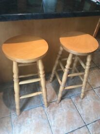 2 breakfast bar stools perfect condition