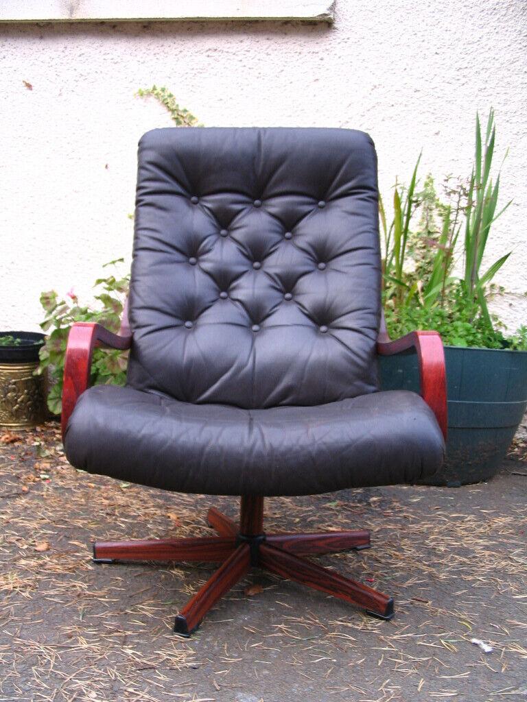 Swivel lounge chair, bentwood armchair, Scandinavian ...