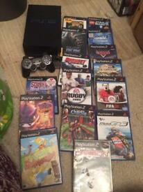 Sony Ps2 console and vames