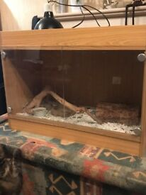Vivarium for snake, lizard or small to medium reptiles