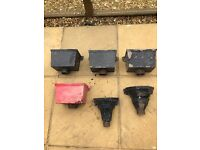 A selection of cast iron hoppers