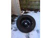 Snow Tyres with Wheels.