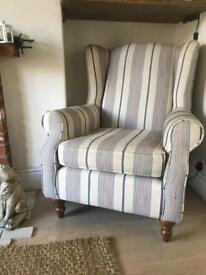 Next Sherlock fabric wingback armchair IMMACULATE CONDITION