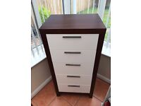 COUSINS CHEST OF DRAWS RRP£299 SELLING £99!! 45 x 59 x 122cm HARDWOOD FRAME