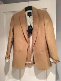 Next linen blend ochre jacket size 8 BNWT