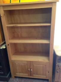 Pine shelves with bottom cupboard £120