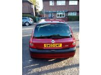 Renault Clio 2003. 1.2 petrol 3 door low milage for age