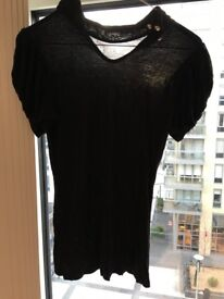 Brand NEW Lovely Women Ladies Black Top UK Size 8 Small