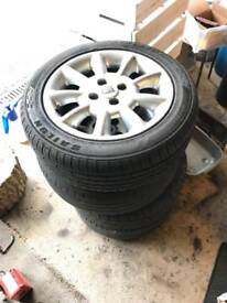 """Rover 25 15"""" Alloys With 185/55R15 Tyres X4"""