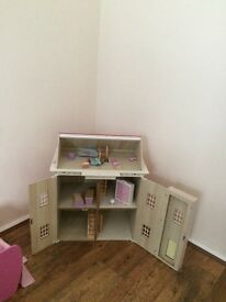 Dolls house for sale with furniture