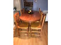 Beautiful dining table and chairs