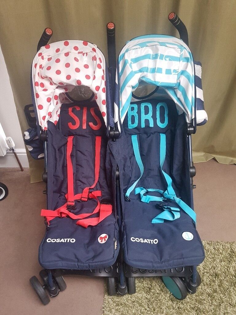Cosatto Bro and Sis double buggy.