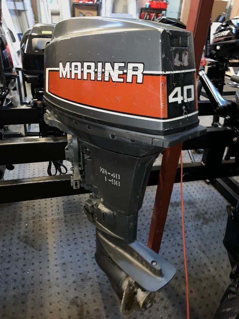 Short shaft 40HP Mariner electric start outboard | in Soham, Cambridgeshire  | Gumtree