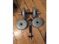 Dumbells with Plates Total weight = 15 kilos