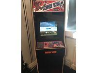 Arcade Machine - Donkey Kong Theme with Carbon Fibre wrap.