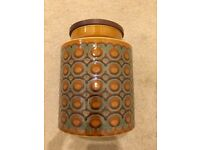 Vintage Hornsea 1974 Bronte Jar and Lid (plain with no text)