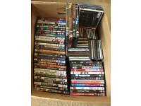 *50 DVD's and 50 CD's for sale job lot car boot joblot*