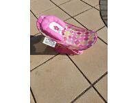Summer infant pink baby bath seat