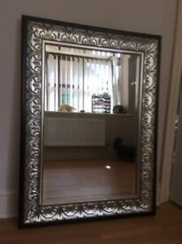 Large Decorative Bevelled Mirror