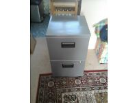 Grey Two Drawer Home File Cabinet with Keys