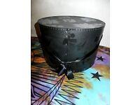 Black Cherry Ribbon & Studs Hat Storage Box - Used
