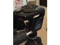 Professional manfrotto 029 3 way fluid head and lovely tripod