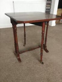 Antique apprentice piece drop leaf display/ side table