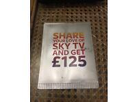£125 off Sky TV