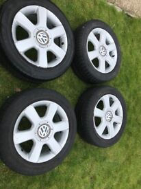 Vw 16 inch alloys with tyres