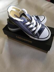 Children's Converse Shoes - Navy & White - Child's Size 11
