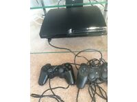 Sony PS3 Console - 320 GB SLIM - Mint Condition, 2 Wireless Controllers, 5M cable/ + 6 Top games .