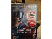 Captain America civil war DVD